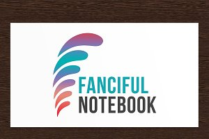Fanciful Notebook Logo - PSD
