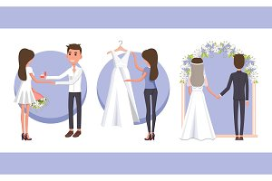 Proposal and Wedding Day, Vector