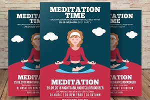 Meditation And Yoga Flyer