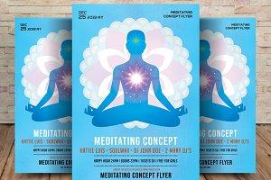 Meditating Concept Flyer