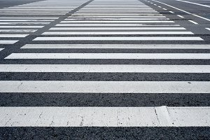 Crosswalk pedestrian crossing in the