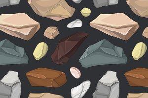 Set of stones pattern
