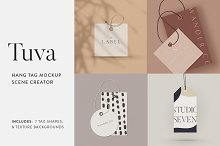 Tuva Hang Tag Mockup Scene Creator by  in Product Mockups