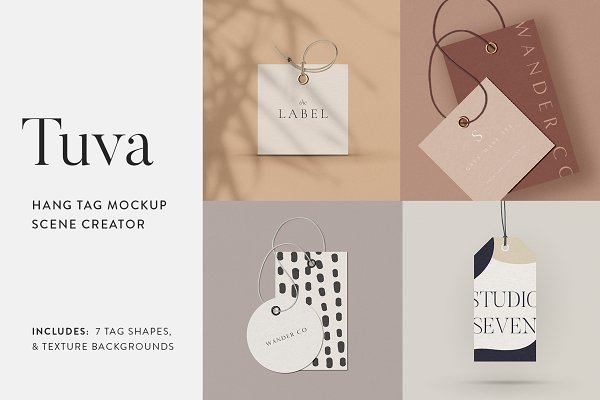 Product Mockups: Moyo Studio - Tuva Hang Tag Mockup Scene Creator