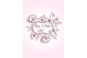 Valentine printables poster flowers