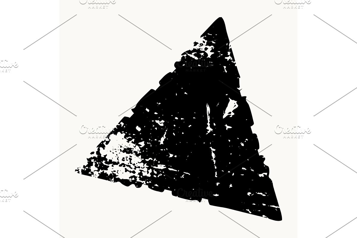 Grunge Isolated Triangle