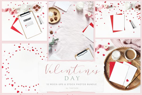 Valentine's day mockups & photos
