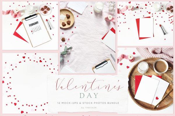 Valentine's day mockups & photos