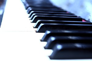 Close up piano keys
