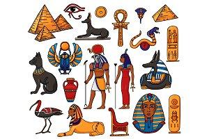 Egyptian vector pharaoh character