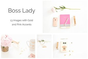 Boss Lady   Pink & Gold Accents