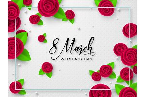 8 March greeting card for Womens Day