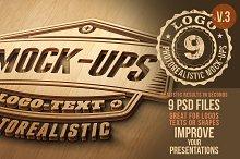 Photorealistic Logo Mock-Ups Vol.3