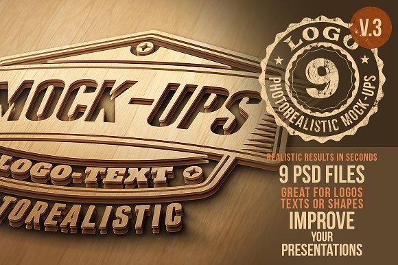 Download Photorealistic Logo Mock-Ups Vol.3