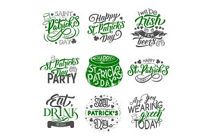 St Patrick holiday lettering