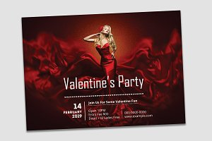 Valentine's Day Party Flyer V04