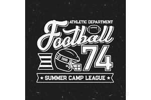 Football summer camp template