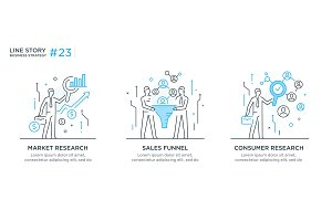 Set of illustrations concept with