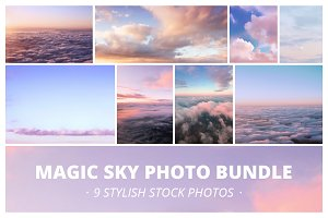 Magic sunset sky with clouds Bundle