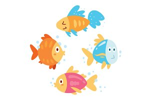 Flat Funny Fishes
