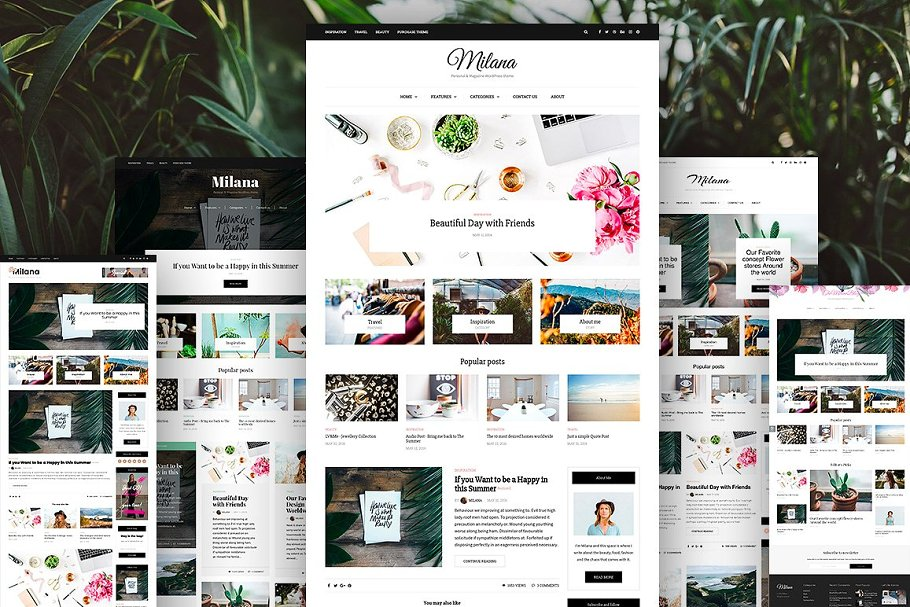 Milana - WordPress Blog & Shop Theme