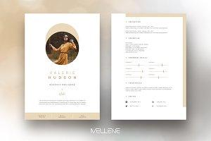 CV / Resume template - Valerie