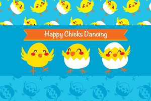 Happy Chicks Dancing