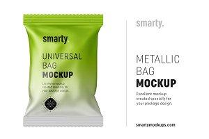 Aluminium foil bag mockup