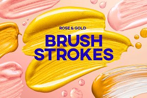Brush Strokes - Rose Gold