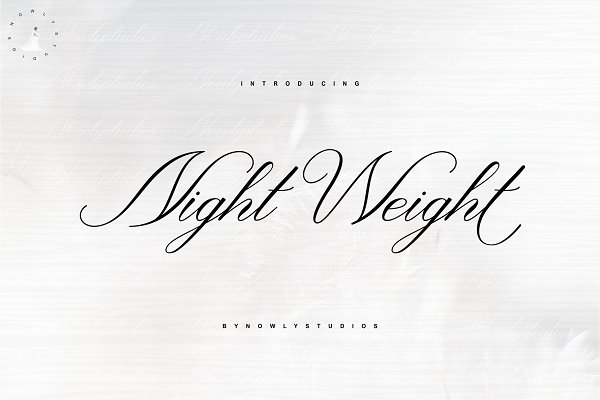 Fonts: Nowlystudios - Night Weight Script
