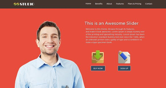 Studio - One page HTML5 Template