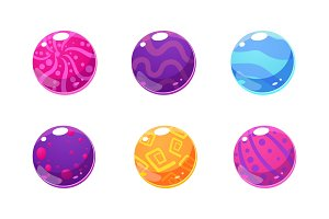 Collection of glossy balls
