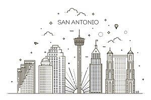 San Antonio Linear Skyline