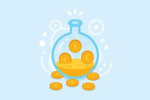 Money Laboratory Clipart