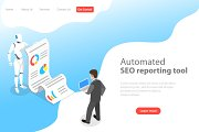 Landing page of automated SEO report