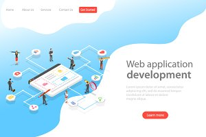 Landing page of web services agency