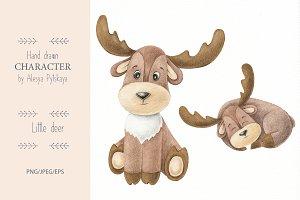 Deer hand drawn illustration