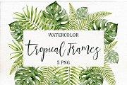 Watercolor Tropical Frames