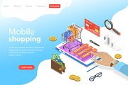 Landing page of mobile shopping