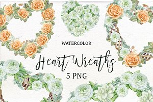 Valentine's Heart Wreath Clipart