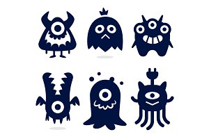 Monsters Silhouette Icons