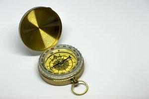 An old golden compass