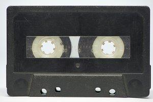 A black cassette