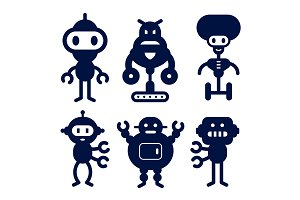Robot Silhouette Icons