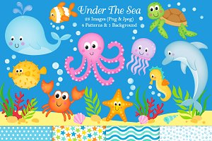 Under The Sea Clipart & Paper