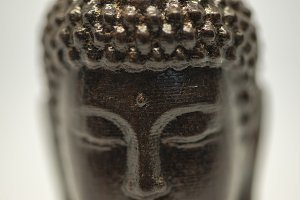The black figure of a Budha
