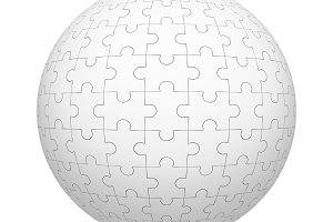 White jigsaw puzzle pieces pattern t
