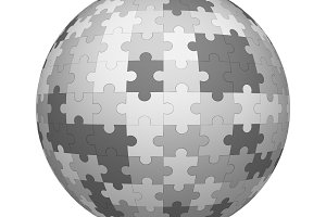 Gray jigsaw puzzle pieces pattern te