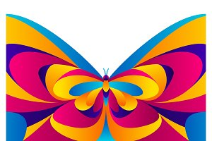 Background design with butterfly.