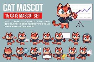 Cat Mascot Set